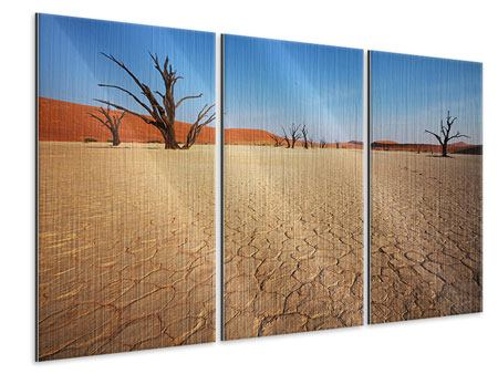 Metallic-Bild 3-teilig Wüste