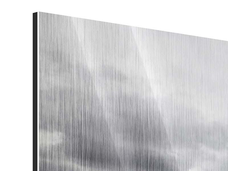 Metallic-Bild 3-teilig Vulkan
