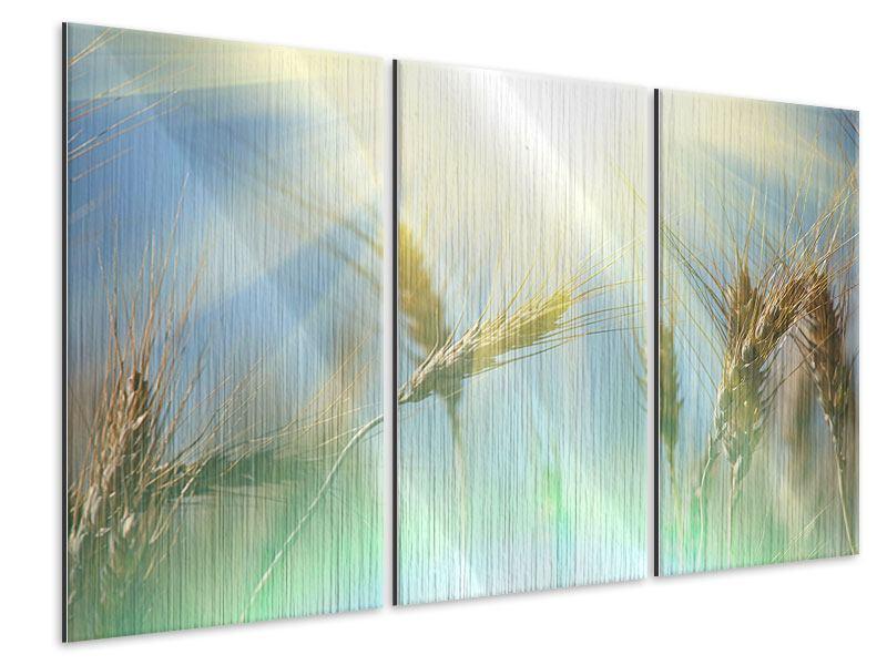 Metallic-Bild 3-teilig König des Getreides