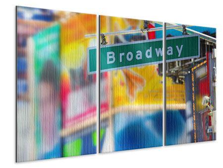 Metallic-Bild 3-teilig Broadway