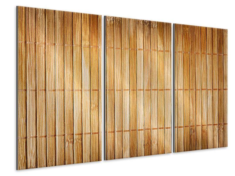 Metallic-Bild 3-teilig Bambusrohre