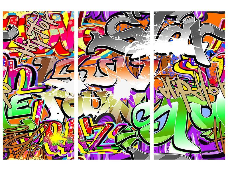 Metallic-Bild 3-teilig Writings