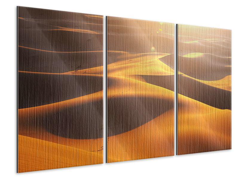 Metallic-Bild 3-teilig Wüstenwanderung