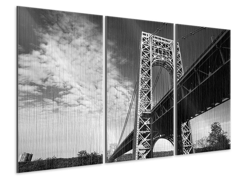 Metallic-Bild 3-teilig Georg-Washington-Bridge
