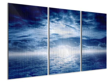 Metallic-Bild 3-teilig Mystischer Himmel
