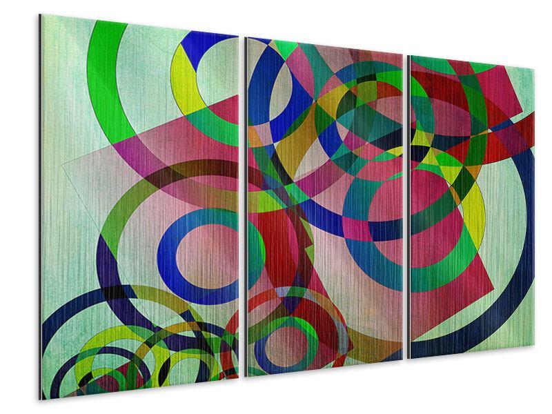 Metallic-Bild 3-teilig Wandkunst