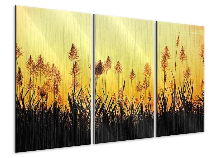 Metallic-Bild 3-teilig Die Blumen des Feldes