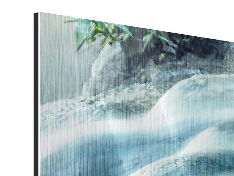 Metallic-Bild 3-teilig Das Fliessende Wasser