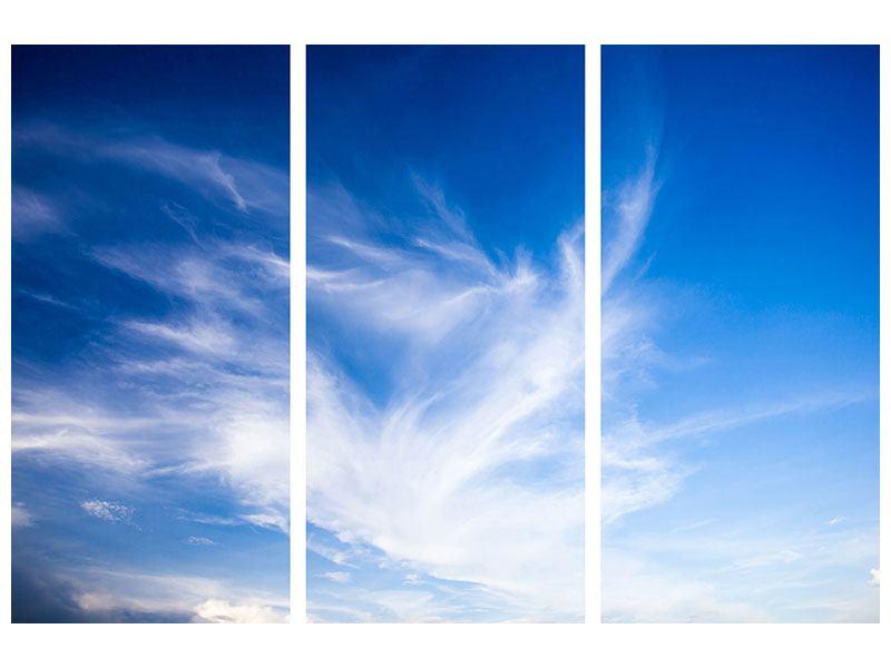 Metallic-Bild 3-teilig Schleierwolken