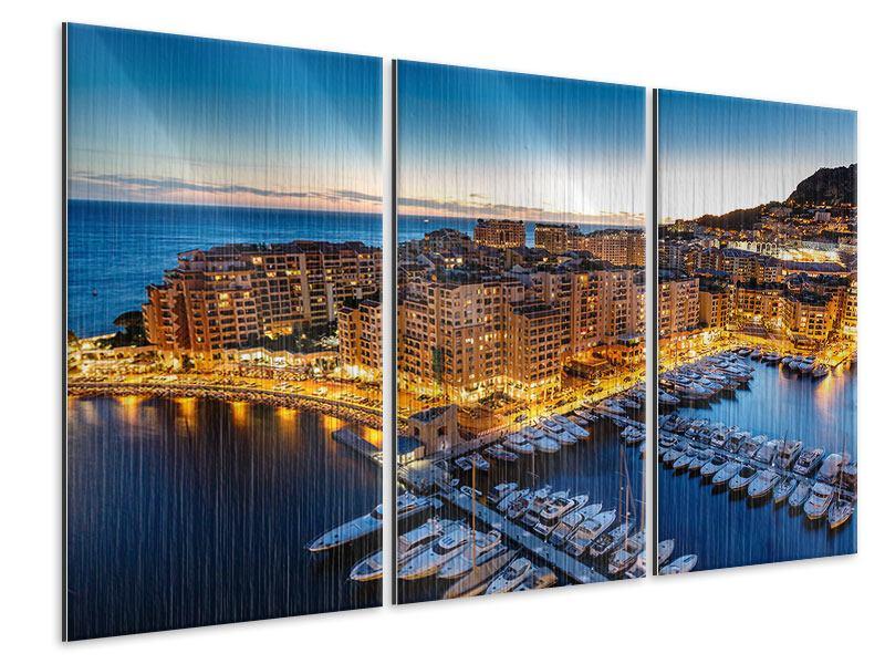 Metallic-Bild 3-teilig Monaco