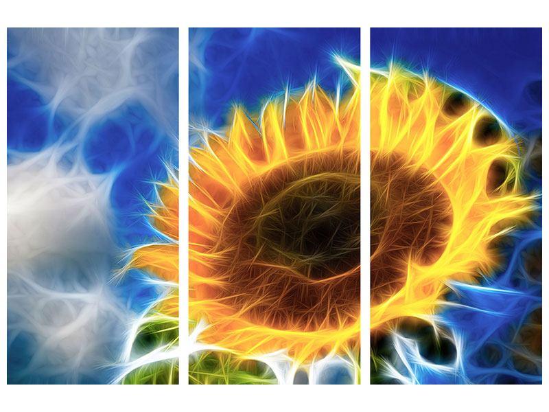 Metallic-Bild 3-teilig Der Sonne entgegen