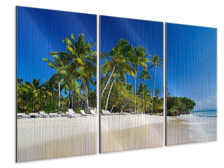 Metallic-Bild 3-teilig Aloha