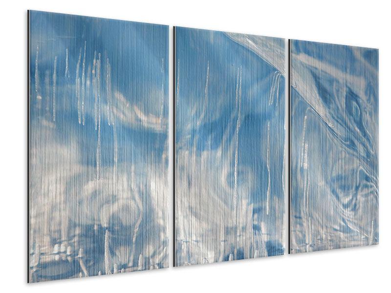 Metallic-Bild 3-teilig Das Eis des Baikalsees