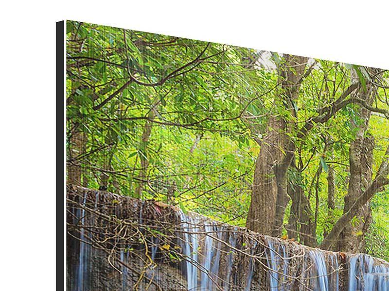 Metallic-Bild 3-teilig Wasserfall Si Nakharin