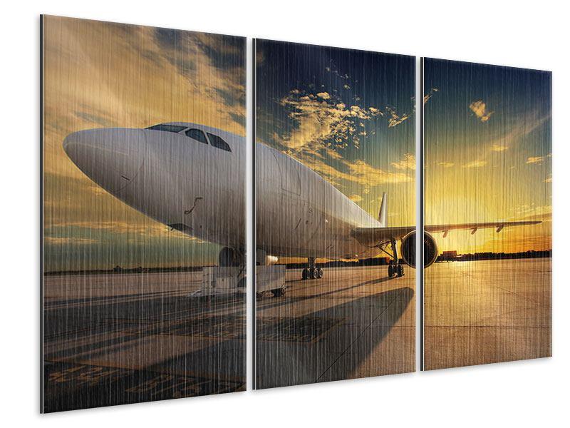 Metallic-Bild 3-teilig Jet