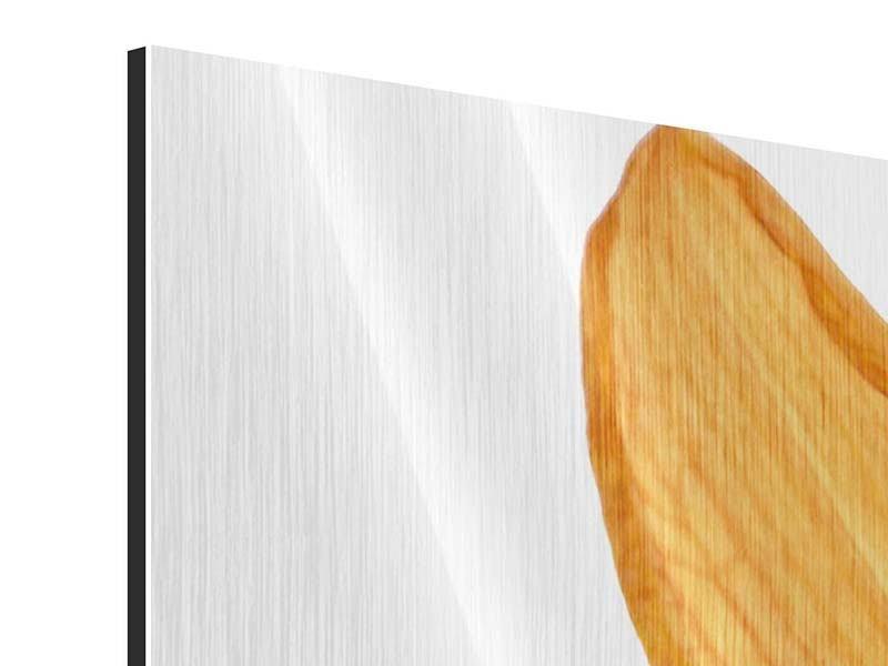 Metallic-Bild 3-teilig Die Tiger-Lilie