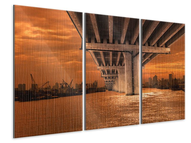 Metallic-Bild 3-teilig Die Brücke