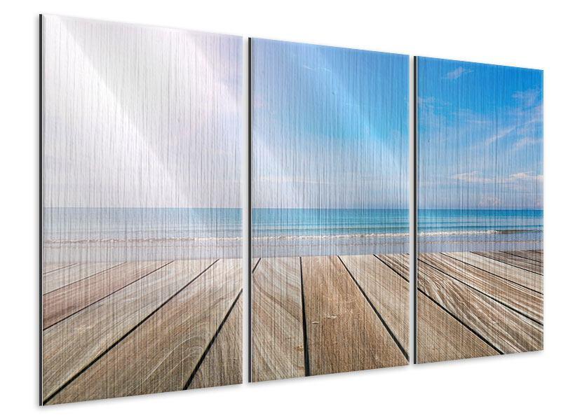 Metallic-Bild 3-teilig Das schöne Strandhaus