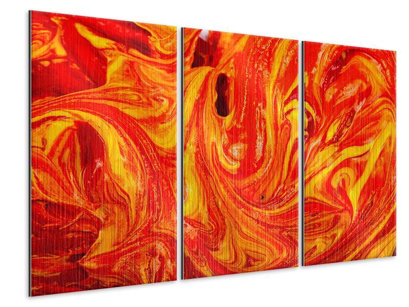 Metallic-Bild 3-teilig Wandgemälde