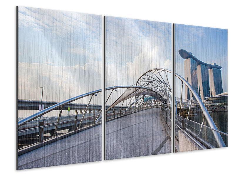 Metallic-Bild 3-teilig Helix-Brücke