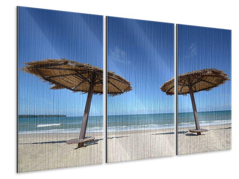 Metallic-Bild 3-teilig Umbrellas