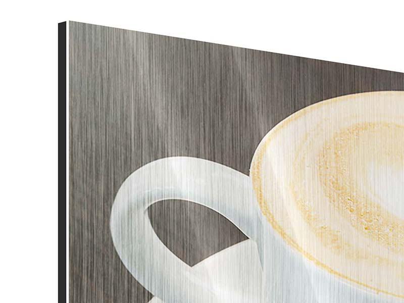 Metallic-Bild 3-teilig Lieblingskaffee