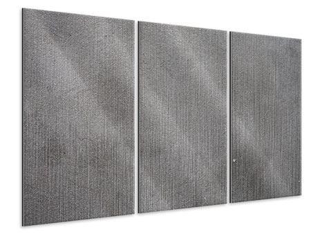 Metallic-Bild 3-teilig Beton in Dunkelgrau