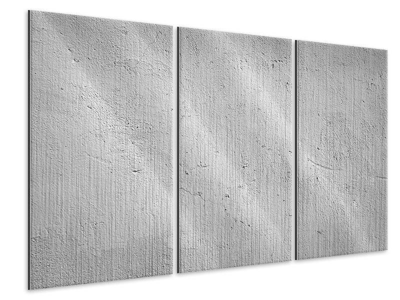 Metallic-Bild 3-teilig Beton