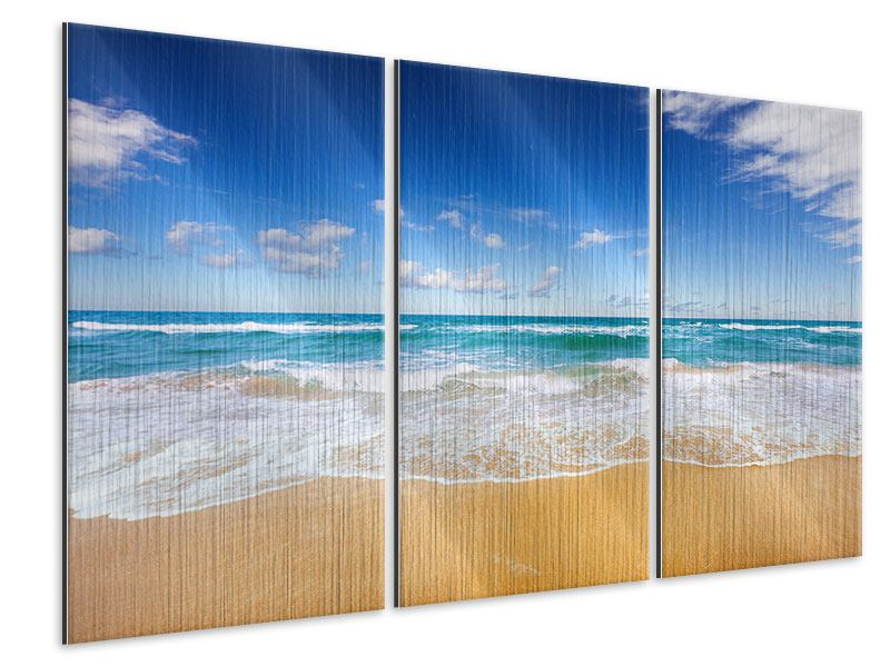 Metallic-Bild 3-teilig Die Gezeiten und das Meer