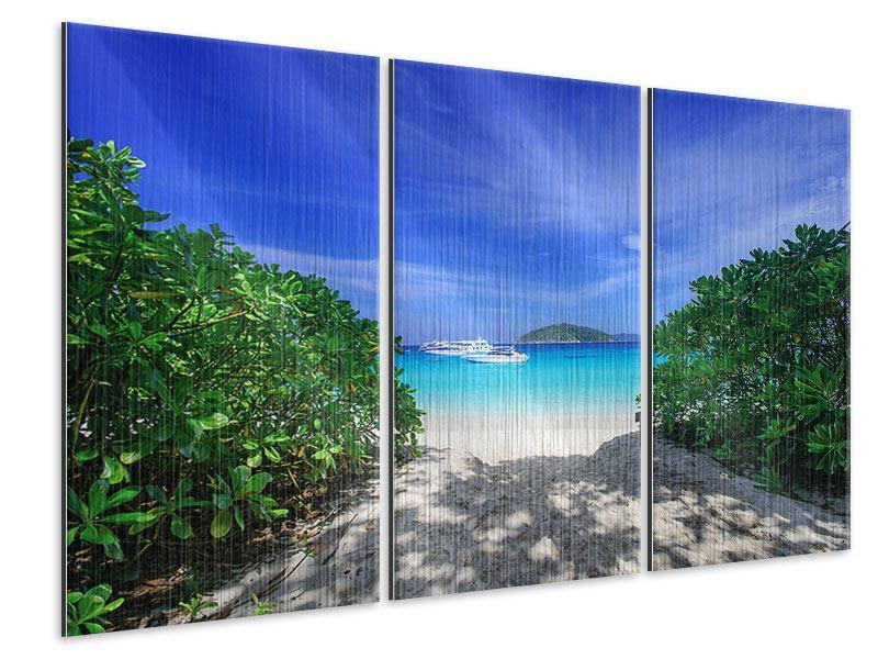 Metallic-Bild 3-teilig Similan-Inseln