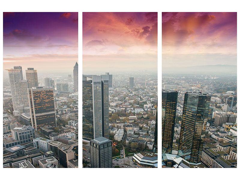 Metallic-Bild 3-teilig Skyline Penthouse in New York
