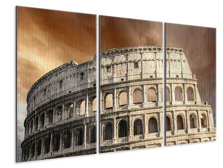 Metallic-Bild 3-teilig Kolosseum Rom