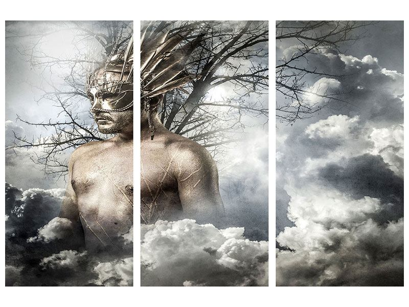 Metallic-Bild 3-teilig Gottheit