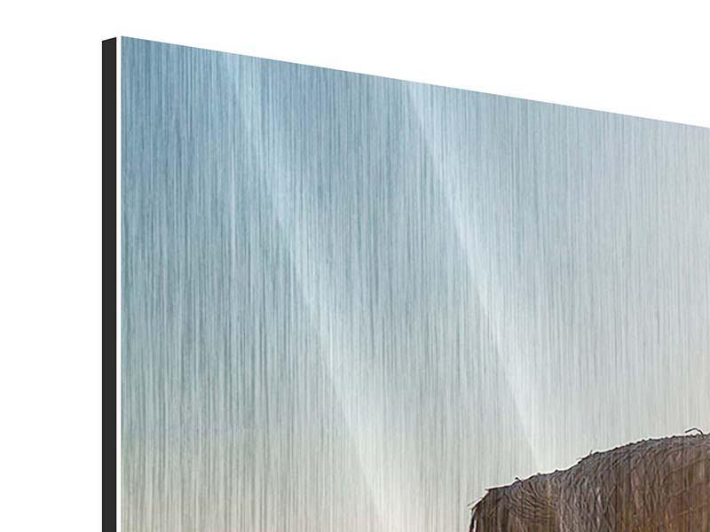 Metallic-Bild 3-teilig Der Sonnenschirm