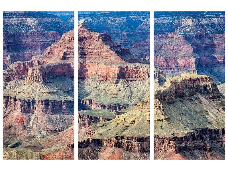 Metallic-Bild 3-teilig Gran Canyon