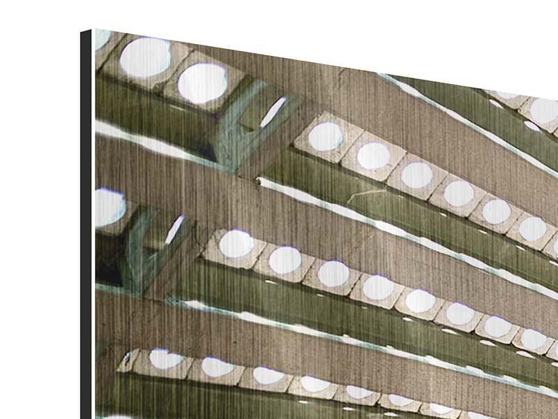 Metallic-Bild 3-teilig Abstraktes Rad