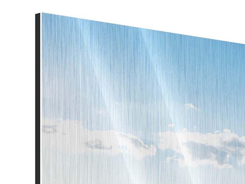 Metallic-Bild 3-teilig Die Möwen und das Meer