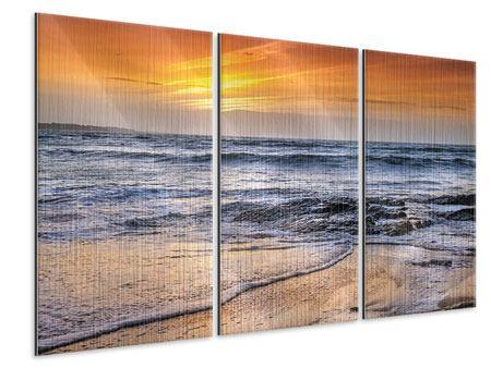Metallic-Bild 3-teilig Das Meer