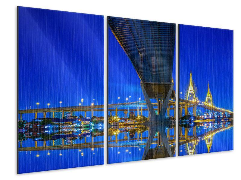 Metallic-Bild 3-teilig Bhumiboll-Brücke