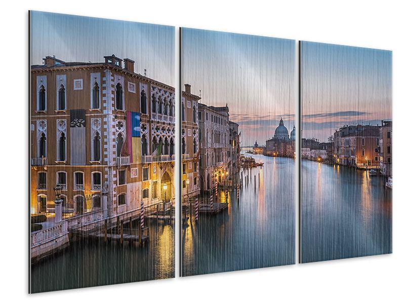 Metallic-Bild 3-teilig Romantisches Venedig