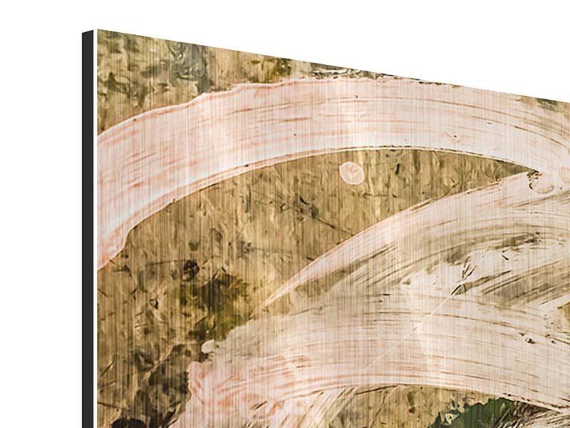 Metallic-Bild 3-teilig Writing On The Wall