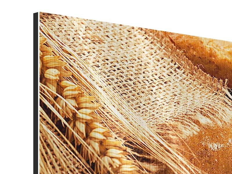 Metallic-Bild 3-teilig Frische Brote