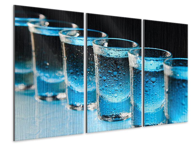 Metallic-Bild 3-teilig Wodka Pur