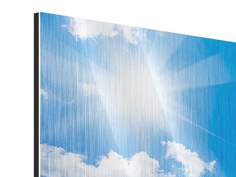 Panorama Metallic-Bild 3-teilig Himmelblau
