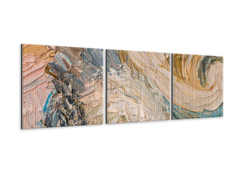 Panorama Metallic-Bild 3-teilig Ölgemälde