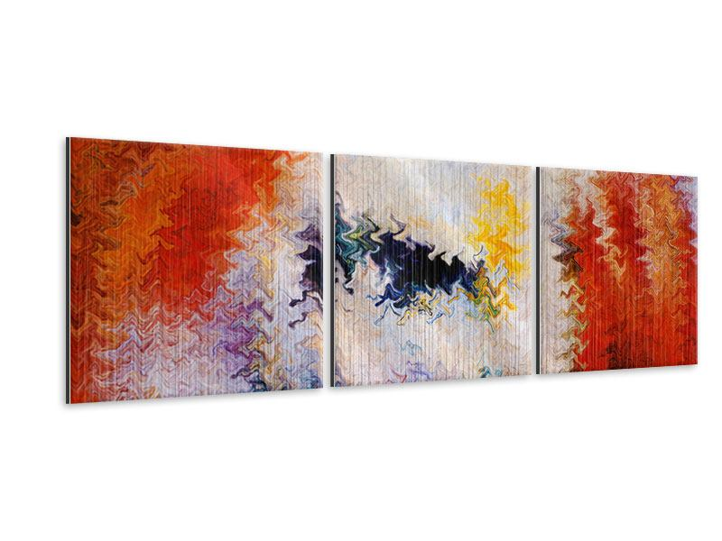 Panorama Metallic-Bild 3-teilig Wandmalerei