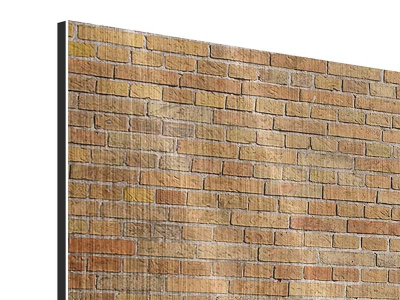 Panorama Metallic-Bild 3-teilig Backsteinhintergrund