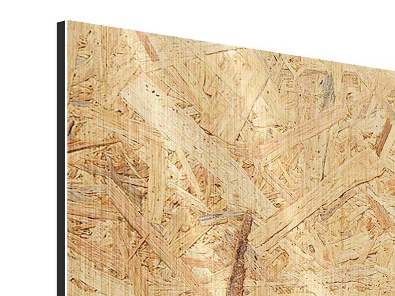 Panorama Metallic-Bild 3-teilig Gepresstes Holz