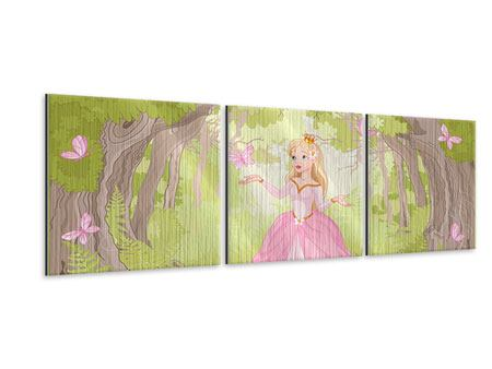 Panorama Metallic-Bild 3-teilig Princess