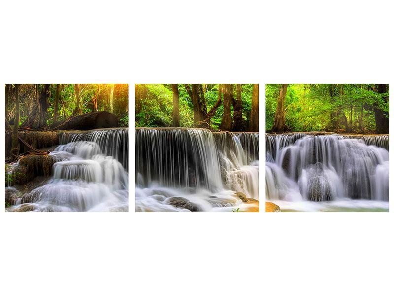 Panorama Metallic-Bild 3-teilig Nationalpark Si Nakharin
